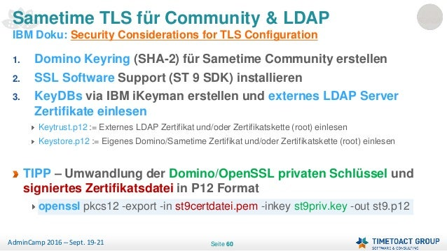 Admincamp 2016 - Securing IBM Collaboration with TLS (German)