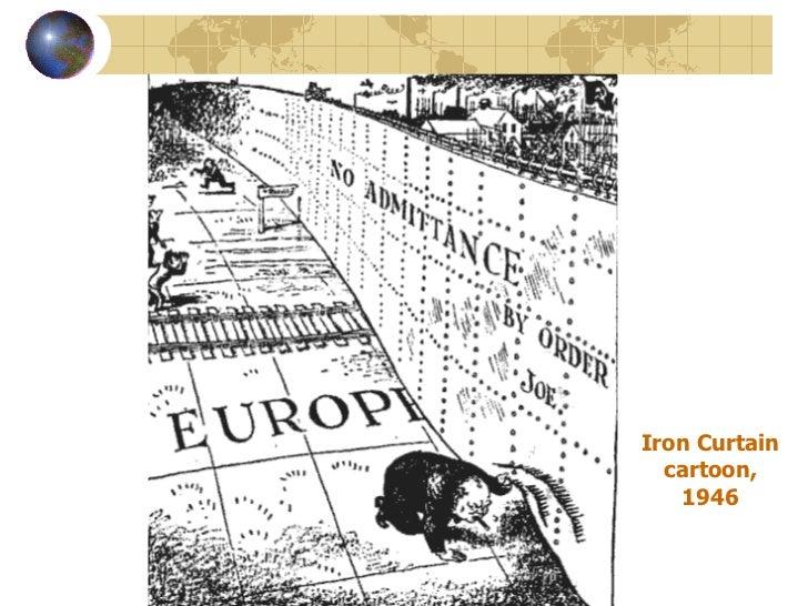 Iron Curtain Cartoon, 1946 ...