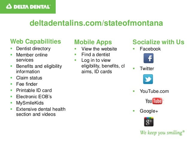 graphic about Delta Dental Printable Cards identified as Once-a-year Variance 2013 MT Workers