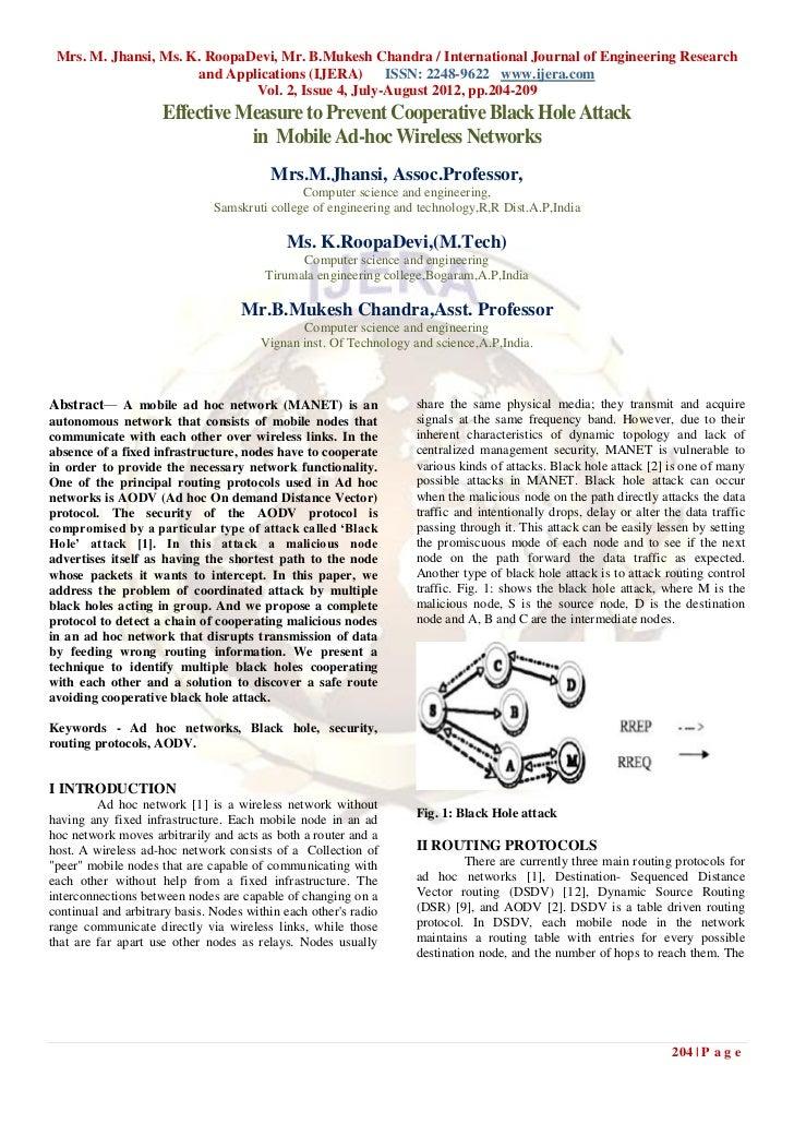 Mrs. M. Jhansi, Ms. K. RoopaDevi, Mr. B.Mukesh Chandra / International Journal of Engineering Research                    ...