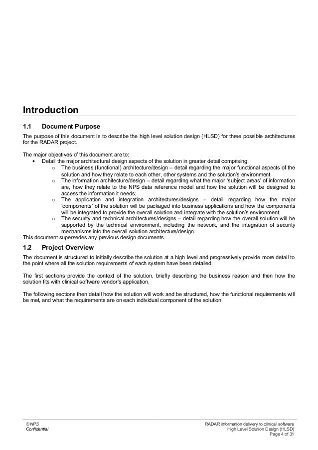 High level solution design v1 0 software confidential high level solution design hlsd page 3 of 31 4 introduction 11 document pronofoot35fo Choice Image