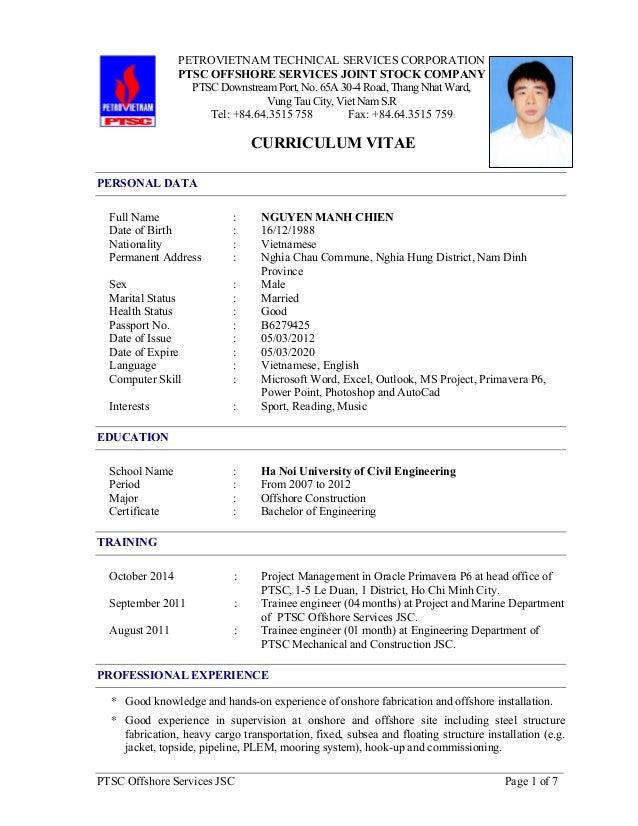 CV_Nguyen Manh Chien updated 16-Dec-16