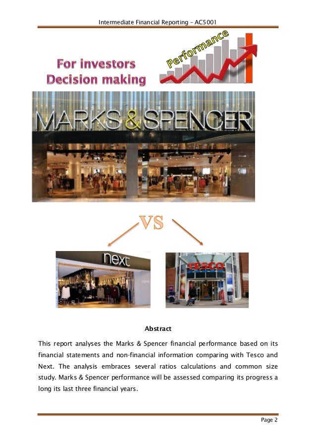 analysis of marks and spencer plc Marks and spencer group plc (mks:lse) financials, including income statements, growth rates,  our extensive director dealings data, financial analysis, and.