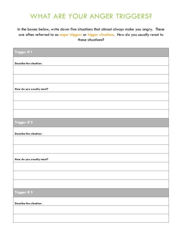 How Anger Feels - Anger Management Worksheet | Worksheets ...