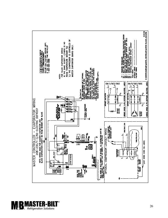 Master Bilt Wiring Diagram Refrigeration - Wiring Diagrams User on