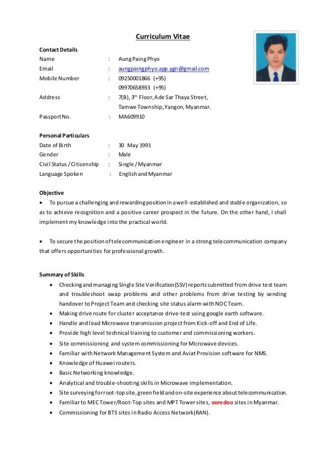 aung paing phyo cv