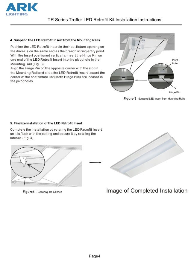 led troffer retrofit kit install instructions ark lighting rh slideshare net Ceiling Fans with Lights Wiring-Diagram Ceiling Light Fixtures