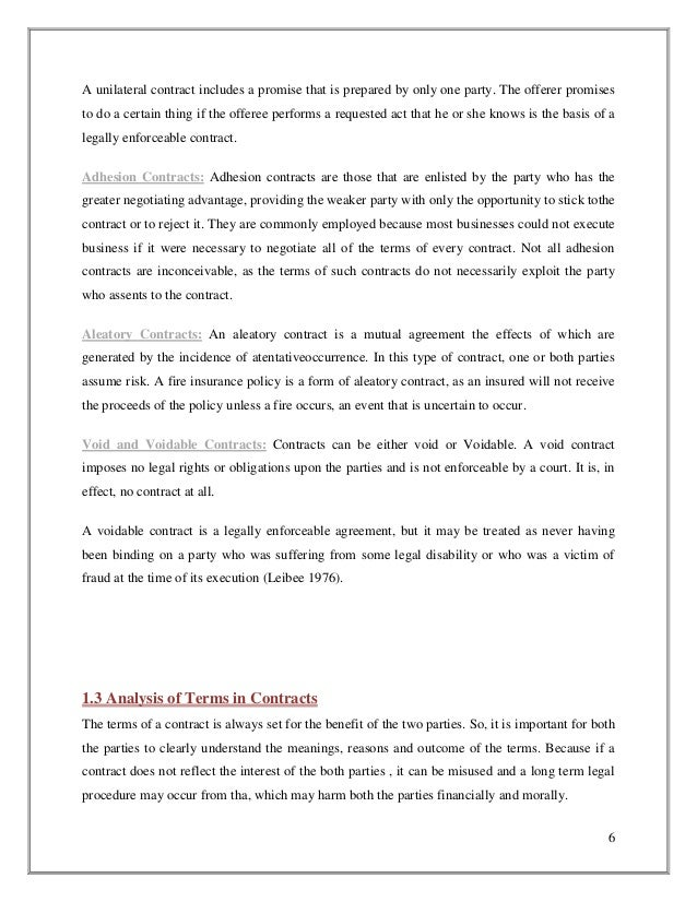 bilateral or unilateral contracts essay Bilateral contracts—exchange of mutual promises             2 b unilateral  contracts—acceptance by performance   the primary nonmonetary remedy  for exam purposes is specific performance, but article 2 has a.