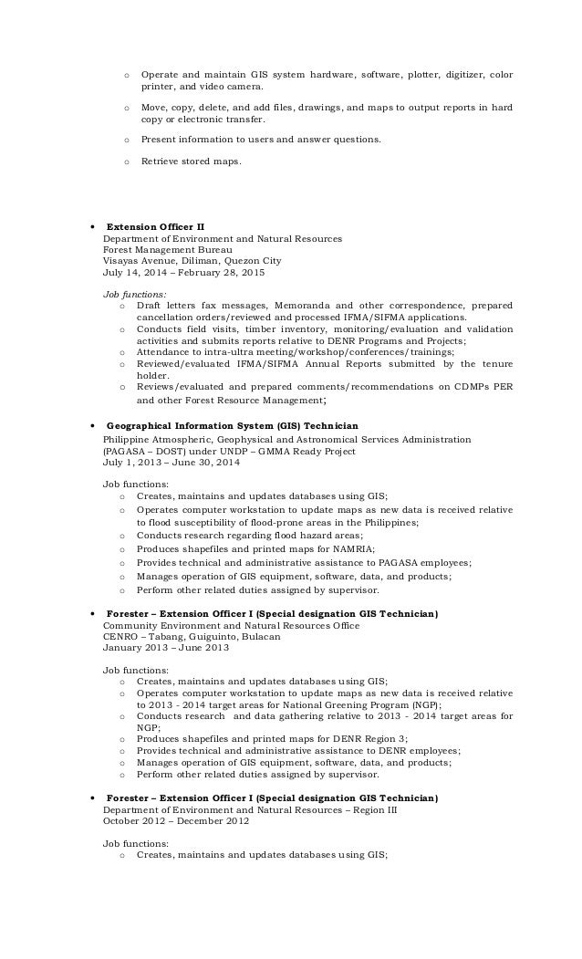 Gis Technician Resume. Gis Gis Technician Resume 18 Natural