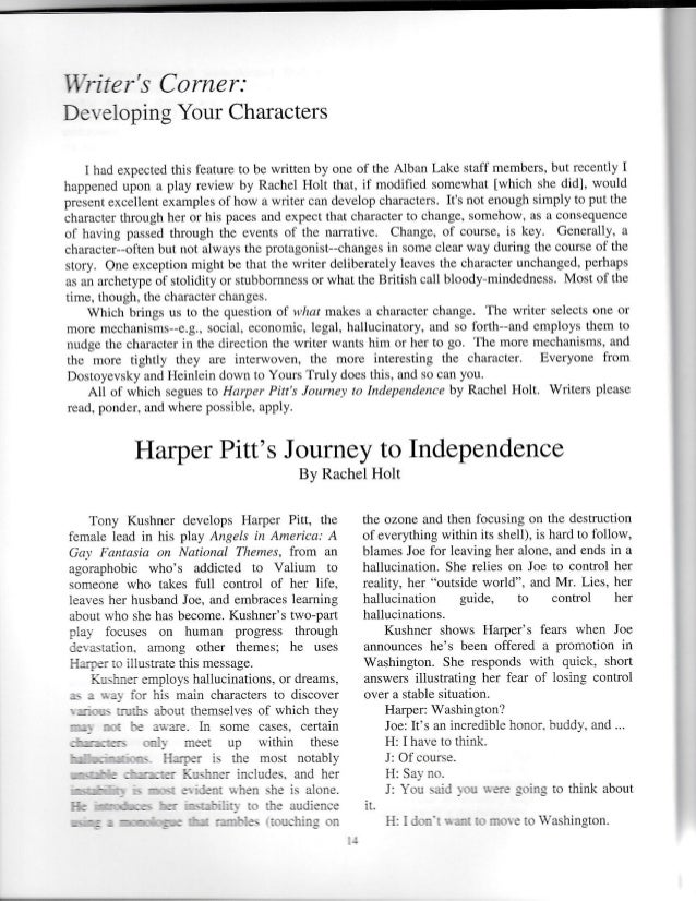 Holt, Harper Pitt's Journey, Outposts, Oct 2013 Slide 2