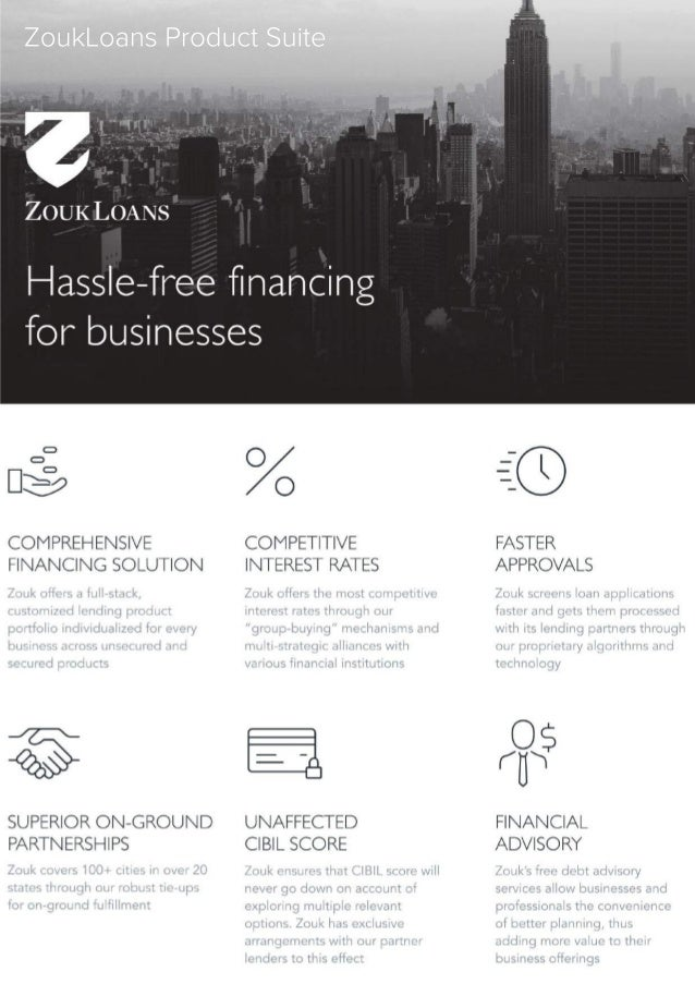 ZoukLoans Product Suite