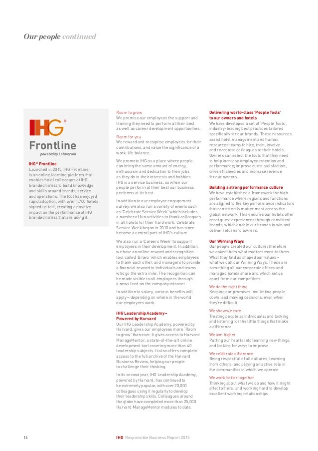 IHG Responsible Business Report 2015