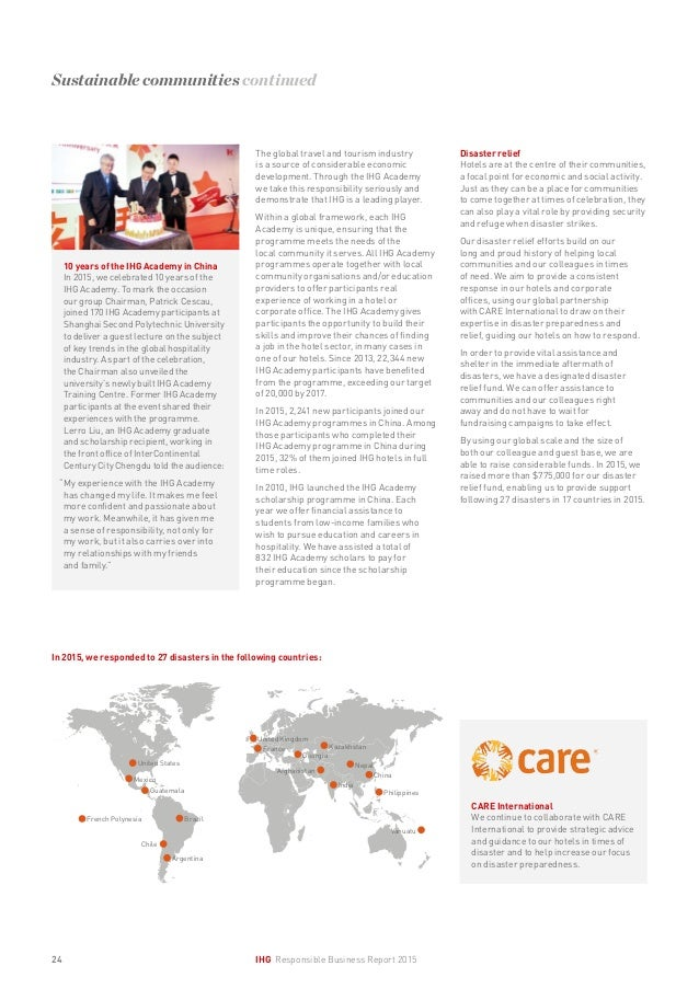 IHG Responsible Business Report 2015