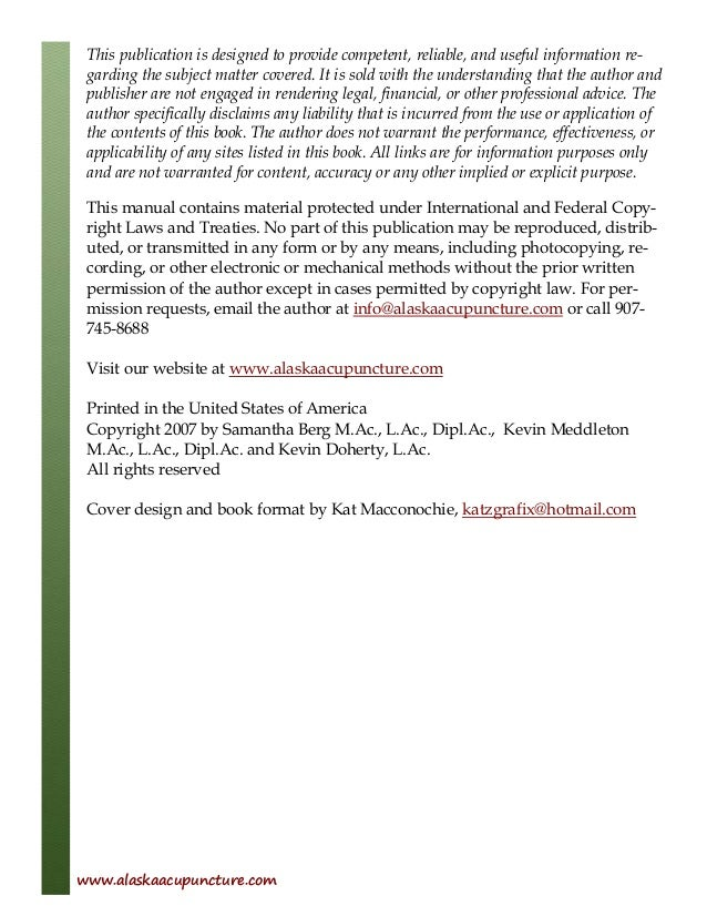 Aca acupuncture ebook 2 alaskaacupuncture 2 table of contents introduction fandeluxe Gallery