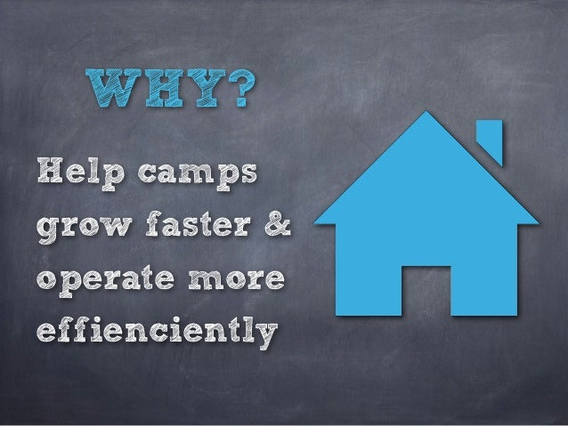 WHY? Help camps grow faster & operate more effienciently