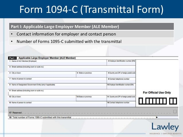 Affordable Care Act ACA Reporting Requirements Forms 6055 and 6056 – Transmittal Form