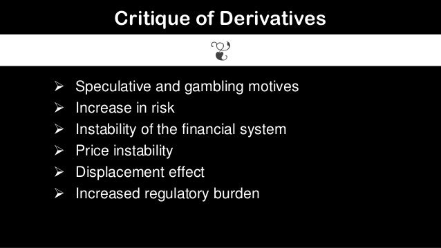 Is derivatives a form of gambling to casinos in michigan