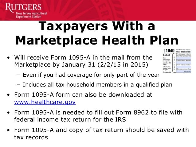 The Affordable Care Act and Federal Income Taxes 02-15