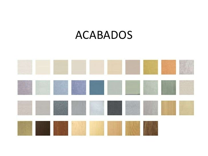 ACABADOS<br />
