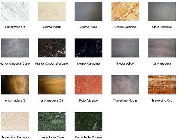 Acabados for Catalogo de marmol