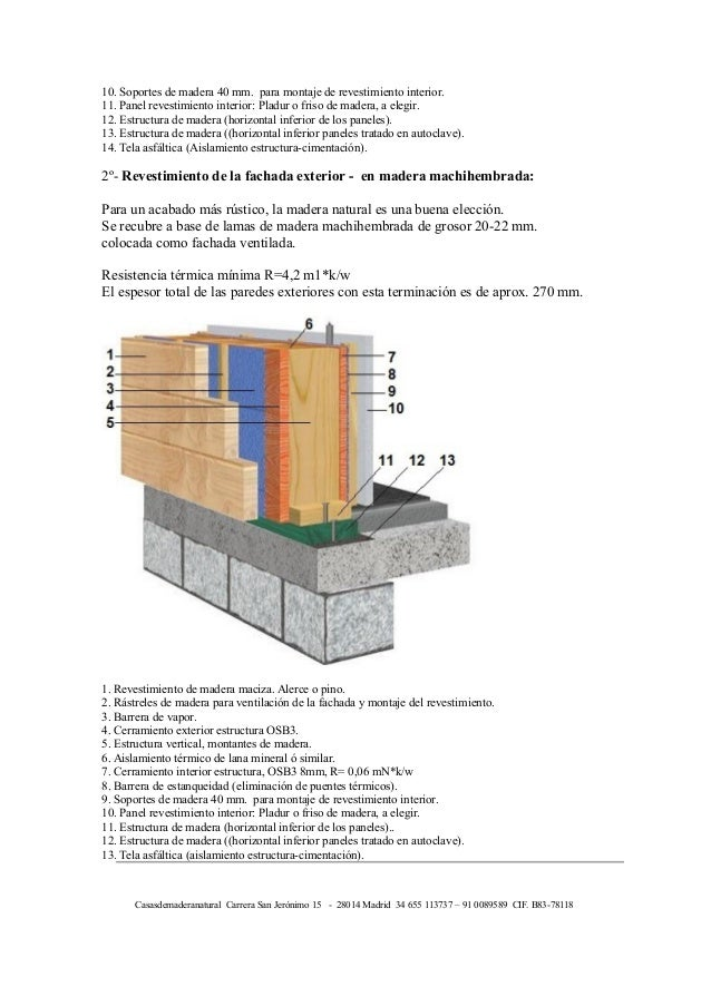2 diferentes acabados pared exterior l nea estructura - Madera machihembrada exterior ...