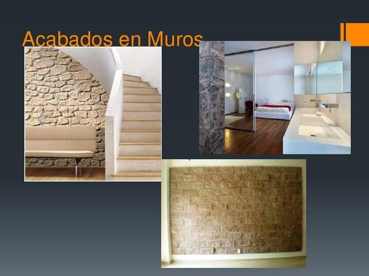 Acabados pisos y muros for Pisos de interiores