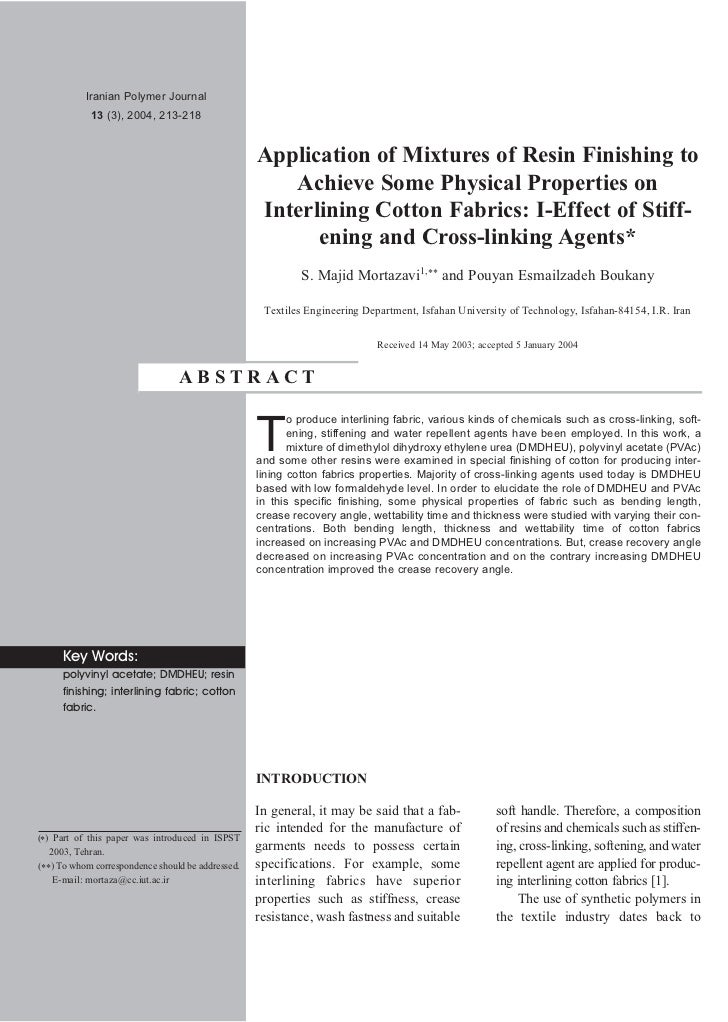 Iranian Polymer Journal            13 (3), 2004, 213-218                                                   Application of ...