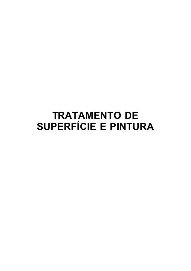 TRATAMENTO DESUPERFÍCIE E PINTURA