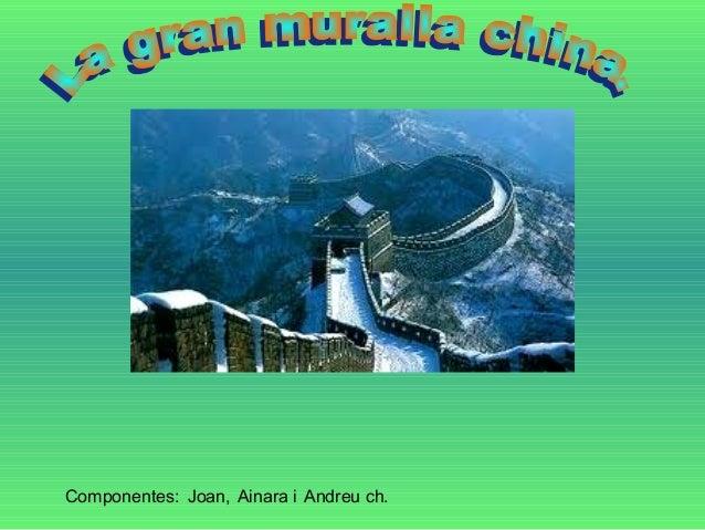 La gran muralla china for Muebles joan i mari igualada