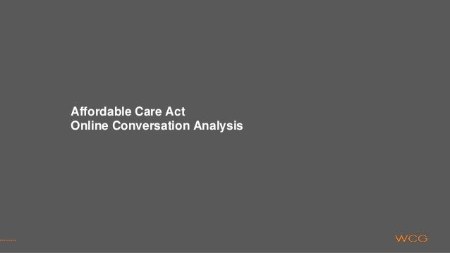 Affordable Care Act Online Conversation Analysis