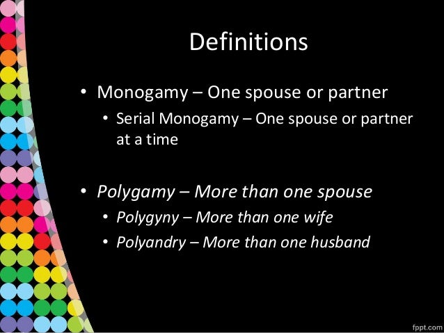 Definition for monogamy