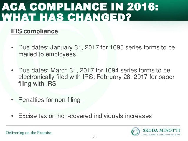 Affordable Care Act Compliance Issues for 2016 and Beyond