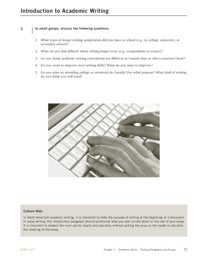 academ skills linc  academic skills writing paragraphs and essays 57 5