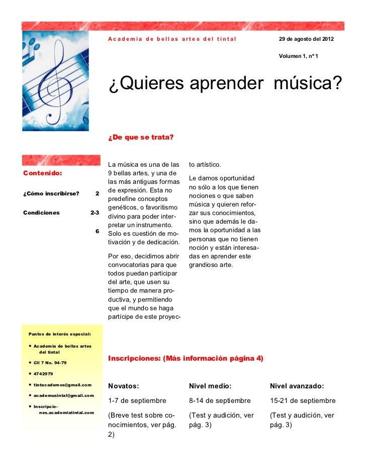 Academia de bellas artes del tintal                      29 de agosto del 2012                                            ...
