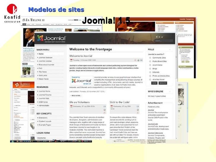 Modelos de sites Joomla! 1.5 Joomla! 1.5