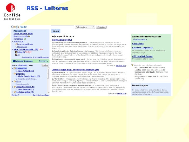 RSS - Leitores