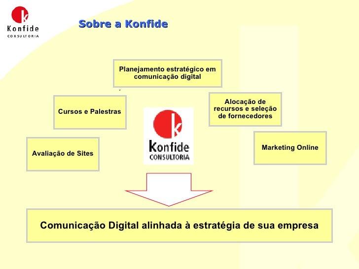 Sobre a Konfide Planejamento estratégico em comunicação digital Cursos e Palestras Alocação de recursos e seleção de forne...