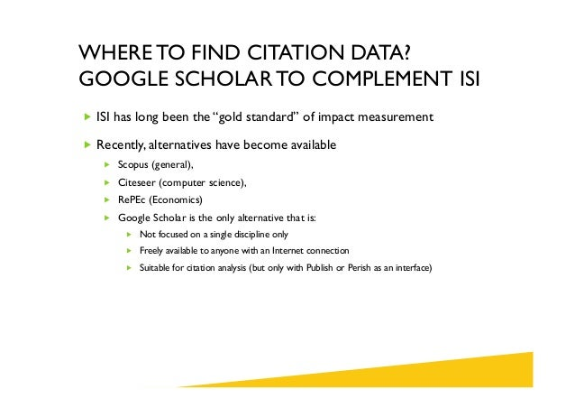 Citation analysis with publish or perish and google scholar 10 where to find citation data google scholar ccuart Image collections