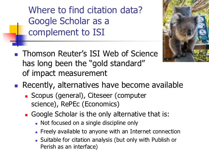 Citation Analysis: From Publication to Impact - Anne-Wil Harzing Slide 3
