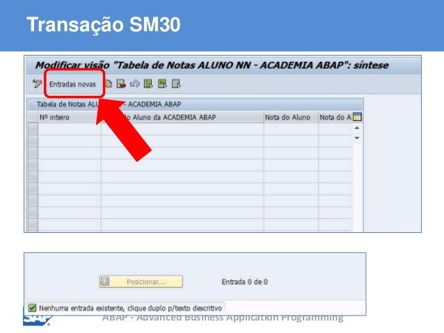 ABAP - Advanced Business Application Programming Transação SM30