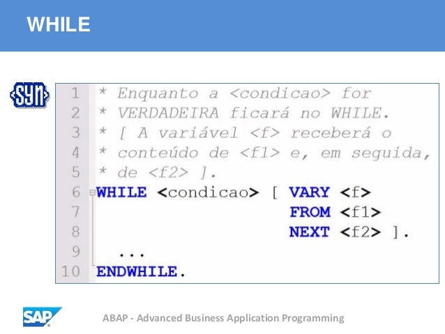 ABAP - Advanced Business Application Programming WHILE
