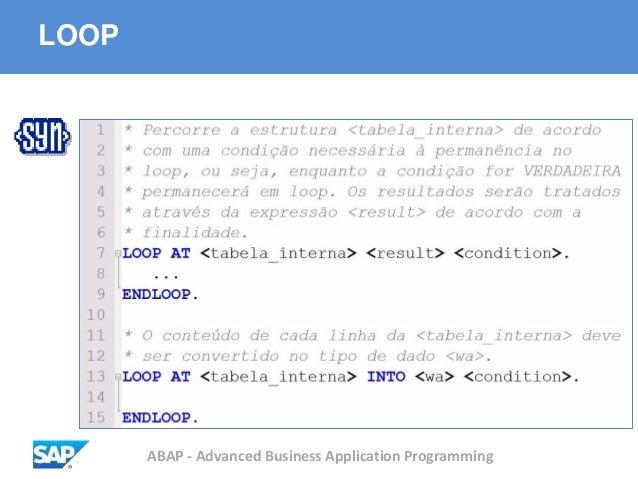 ABAP - Advanced Business Application Programming LOOP