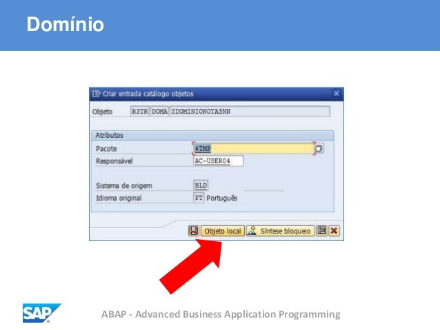 ABAP - Advanced Business Application Programming Domínio