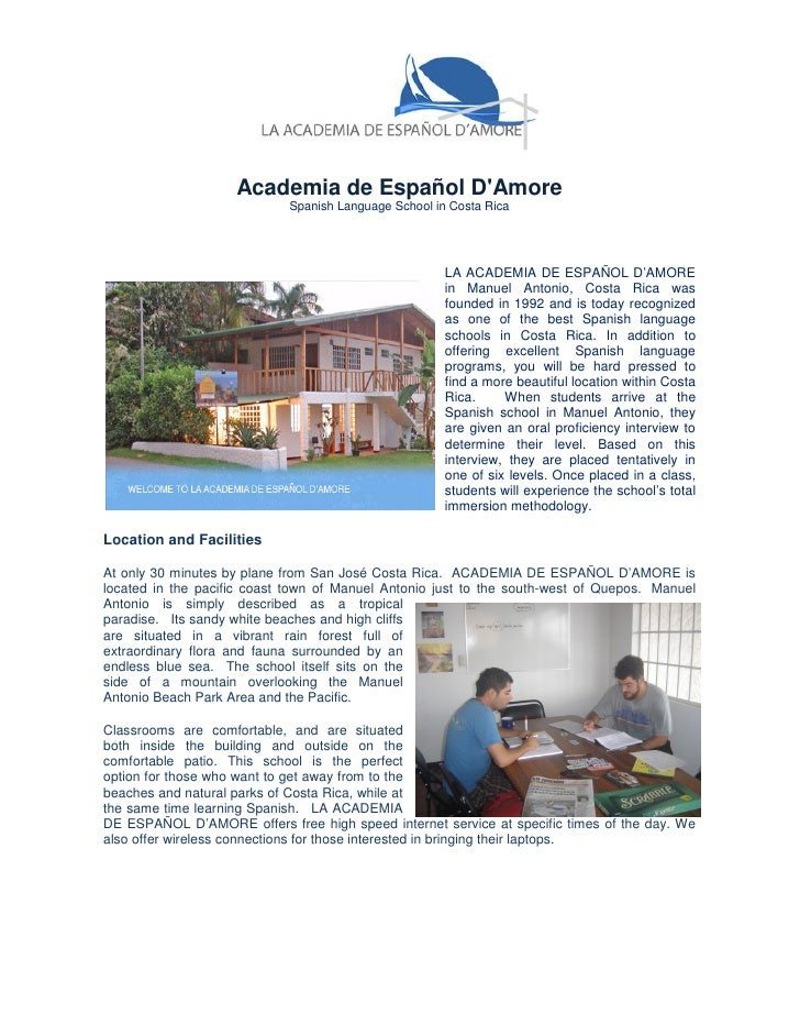 Academia de Español DAmore                            Spanish Language School in Costa Rica                               ...
