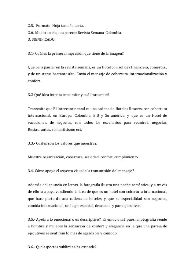 2.5.- Formato: Hoja tamaño carta.2.6.-Medio en el que aparece: Revista Semana-Colombia.3. SIGNIFICADO:3.1- Cuál es la prim...