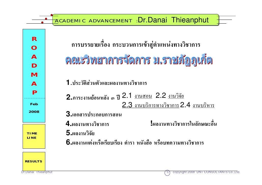 ACADEMIC ADVANCEMENT :Dr.Danai                  Thieanphut       R      O                    การบรรยายเรื่อง กระบวนการเขา...