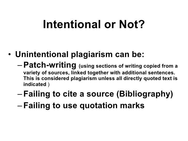 writing patchwriting and plagiarism