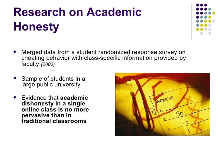 Academic Integrity in Online Courses