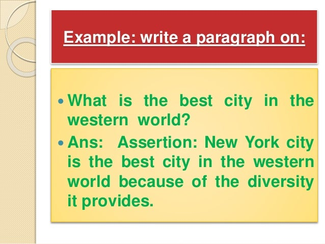 assertion paragraph example