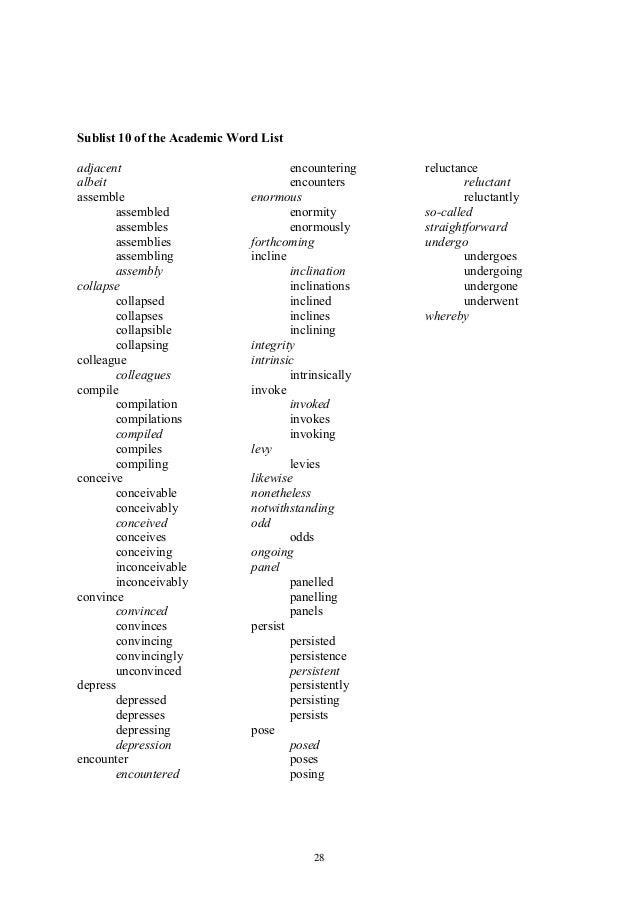 Academic word-list